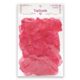144 Units of Satin Rose Petal hot Pink - Valentine Cut Out's Decoration