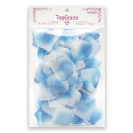 96 Units of Satin petal/Baby-blue - Valentine Cut Out's Decoration