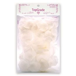 144 Units of Satin Rose Petal White - Valentine Cut Out's Decoration