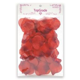 144 Units of Satin Rose Petal Red - Valentine Cut Out's Decoration