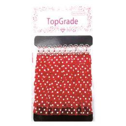144 Units of Trimming Red Polka Dot - Bows & Ribbons