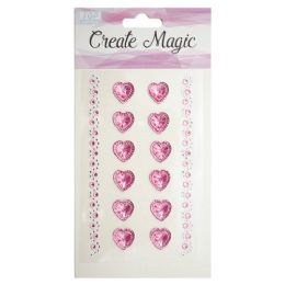 144 Units of Create Magic Heart Stickers - Valentine Cut Out's Decoration