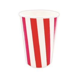 144 Units of Nine Ounce Ten Count Paper Cup Red - Party Paper Goods