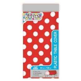 96 Units of Table Cover Dot Red - Valentine Decorations