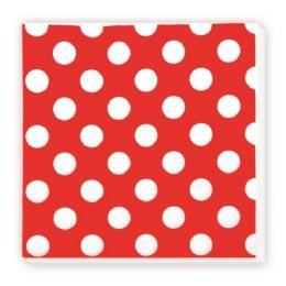 96 Units of Luncheon Napkin Red Polka Dot - Valentine Decorations