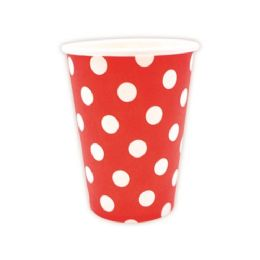 144 Units of Nine Ounce Ten Count Cup Red - Valentine Decorations