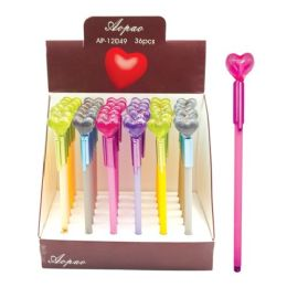 96 Units of Valentines Day Heart Pen - Valentine Decorations
