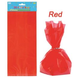 144 Units of Twenty Count Loot Bag Red - Party Favors