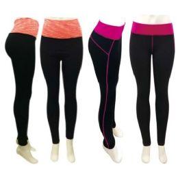 48 Units of Ladies Yoga Leggings - Womens Leggings