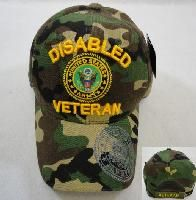 24 Units of LICENSED US ARMY DISABLED VETERAN HAT *CAMO ONLY - Military Caps