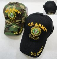 24 Units of Licensed Us Army Dad Ball Cap *assorted Colors - Military Caps