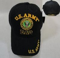 24 Units of Licensed Us Army Dad Ball Cap *black Only - Military Caps
