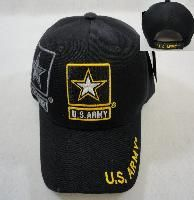 24 Units of Licensed Us Army Hat [black/star Logo] - Military Caps