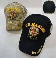 24 Units of Licensed Us Marine Dad Ball CaP-Assorted Colors - Military Caps