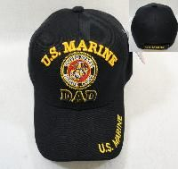 24 Units of Licensed Us Marine Dad Ball CaP-Black Only - Military Caps