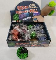 72 Units of MESH SQUISH BALL [SOLID COLORS] - Balls