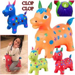 8 Units of Bouncy Inflatable Horses With/sound - Inflatables