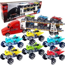 24 Units of Friction Powered Semis With/6 Atvs - Cars, Planes, Trains & Bikes