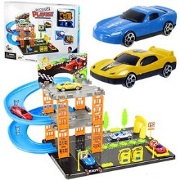 9 Units of 22 Piece Garage Play Sets - Cars, Planes, Trains & Bikes