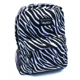 "40 Units of 16.5"" Zebra Prints Backpack For Girls Assorted Colors - Backpacks 16"""