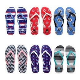 96 Units of Womens Flip Flop Assorted Anchors