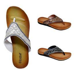 30 Units of Women's Rhinestone Sandals - Women's Flip Flops