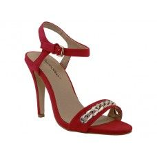 "8 Units of Women's ""Angeles Shoes"" Hi-Heel Sandals Red Color - Women's Heels & Wedges"