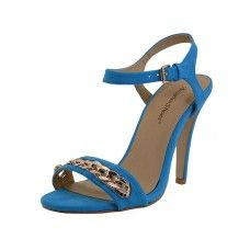 "8 Units of Women's ""Angeles Shoes"" Hi-Heel Sandals Teal Only - Women's Heels & Wedges"