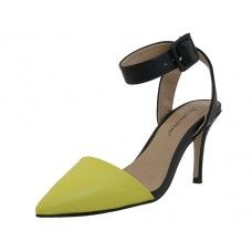 8 Units of Women's Angeles Shoes Ankle High Heel Triangle Close Toe Sandals Yellow Color - Women's Heels & Wedges