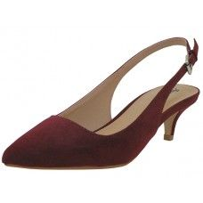 8 Units of Women's Angeles Shoes Slide Sandal Burgundy Color - Women's Heels & Wedges