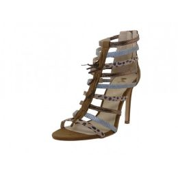 12 Units of Women's Mixx Shuz High Heel Ankle Height Sandals Brown Color - Women's Heels & Wedges