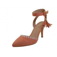 12 Units of Women's Mixx Shuz High Heel with Ankle Strip Sandal Coral Color - Women's Heels & Wedges