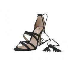 12 Units of Women's Mixx Shuz High Heel Ankle Strip Sandal Black Color - Women's Heels & Wedges