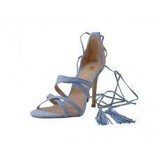 12 Units of Women's Mixx Shuz High Heel Ankle Strip Sandal Light Blue Color - Women's Heels & Wedges
