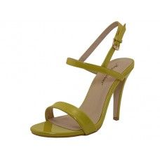 8 Units of Women's Angeles Shoes High Heel Sandal With Ankle Strip Yellow Color - Women's Heels & Wedges