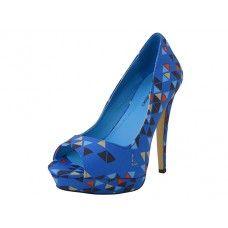 12 Units of Women's Angeles Shoes High Heel Sandals Blue Color - Women's Heels & Wedges