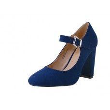 "12 Units of Women's ""mixx Shuz Hgh Heel Mary Janes Shoe Navy Color - Women's Heels & Wedges"