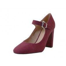 "12 Units of Women's ""mixx Shuz Hgh Heel Mary Janes Shoe Wine Color - Women's Heels & Wedges"