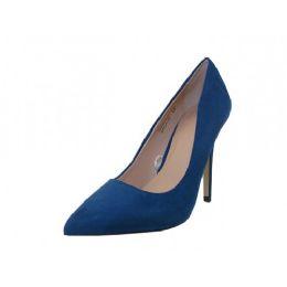 """12 Units of Women's Micro Fiber """"mixx Shuz"""" High Heel Pump Bride Shoe ( *navy Color ) - Women's Heels & Wedges"""