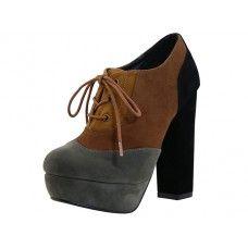 "12 Units of Women's ""angees Shoes"" HI-Heel Slip On Sandal Brown Color - Women's Heels & Wedges"
