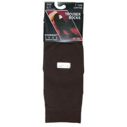 360 Units of Ladies Trouser Socks Size 9-11 - Coffee - Womens Knee Highs