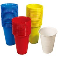 48 Units of 16 Piece Disposable Cups 16oz In Blue - Disposable Cups