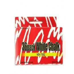72 Units of 36 Pack white chalk - Chalk,Chalkboards,Crayons
