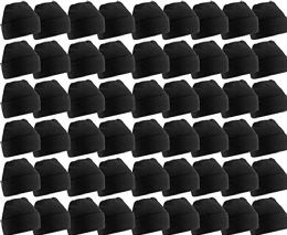 60 Units of Yacht & Smith Unisex Winter Warm Beanie Hats In Solid Black - Winter Beanie Hats