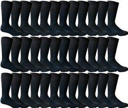 36 Units of Yacht & Smith Men's Navy Textured Dress Socks Size 10-13 - Mens Dress Sock