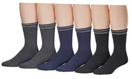 6 Units of Yacht & Smith Mens Cotton Thermal Boot Socks - Mens Thermal Sock