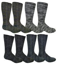 4 Pair Pack excell Mens Heat Retainer Winter Thermal Socks, Boot Socks - Mens Thermal Sock