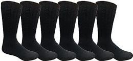 6 Pairs Merino Wool Socks for Men, Hunting Hiking Backpacking Thermal Sock by WSD (Navy) - Mens Thermal Sock