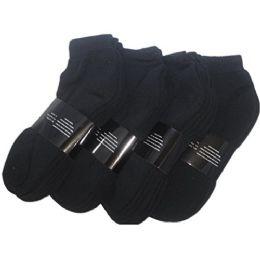 48 Units of Yacht & Smith Women's Premium Cotton Ankle Socks Black Size 9-11 - Mens Ankle Sock