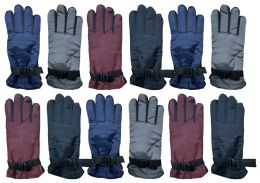 12 Units of Yacht & Smith Women's Winter Warm Waterproof Ski Gloves, One Size Fits All - Ski Gloves